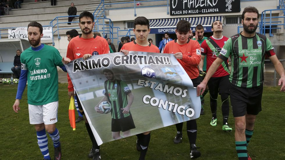 Homenaje al jugador del Sporting Celanova