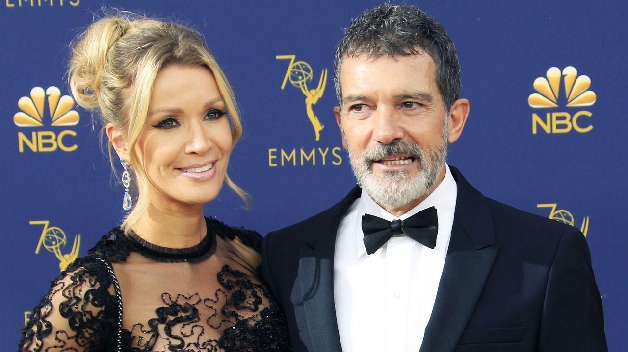 Emmy 2018: Nicole Kimpel y Antonio Banderas
