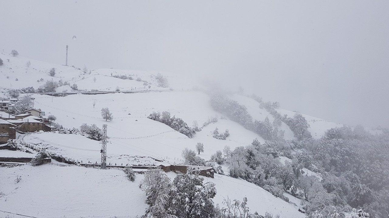 El Puerto de Pajares cubierto de nieve