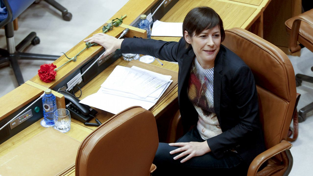 Ana Pontón, en el Parlamento