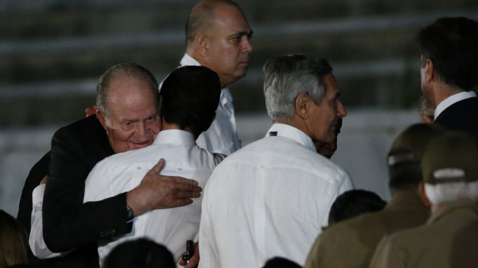 El Rey Juan Carlos, en el funeral de Fidel Castro