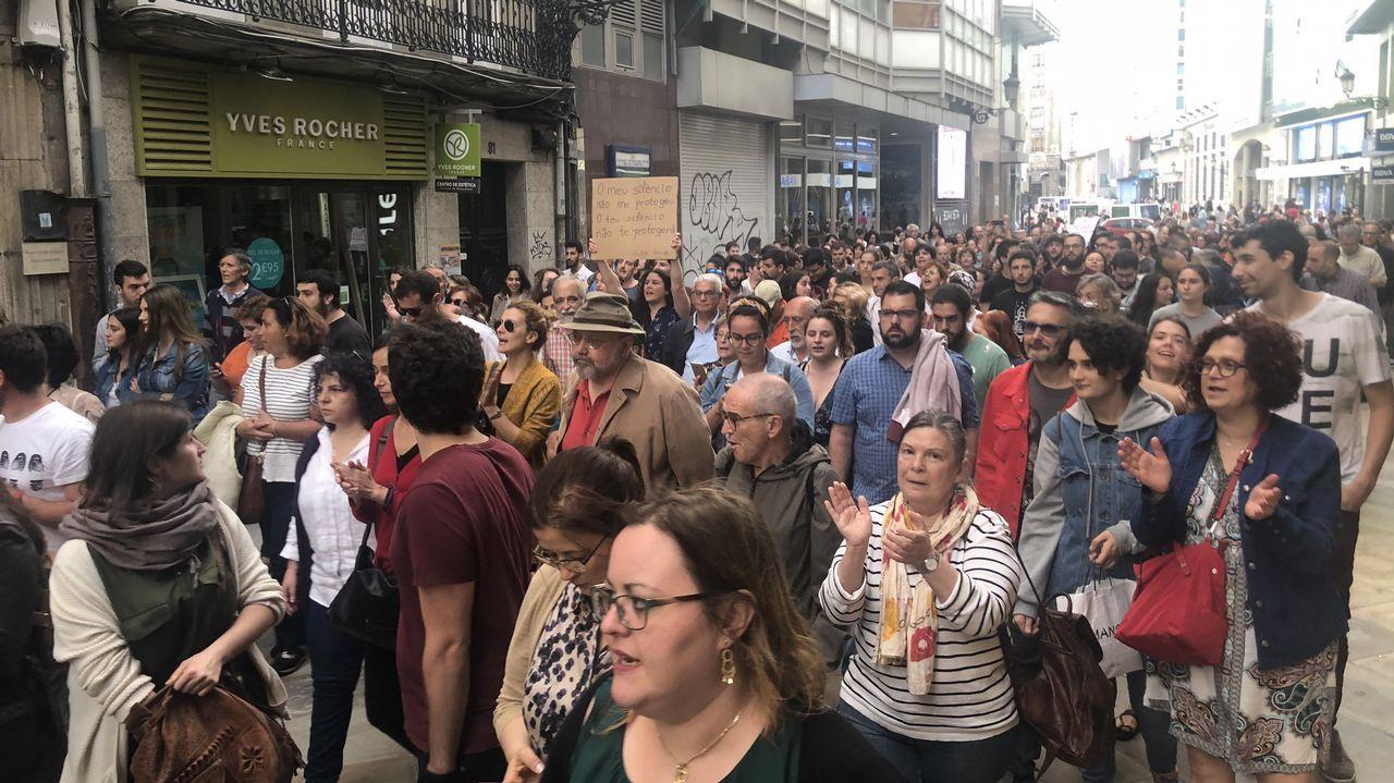 .Manifestación en A Coruña contra la libertad provisional de La Manada