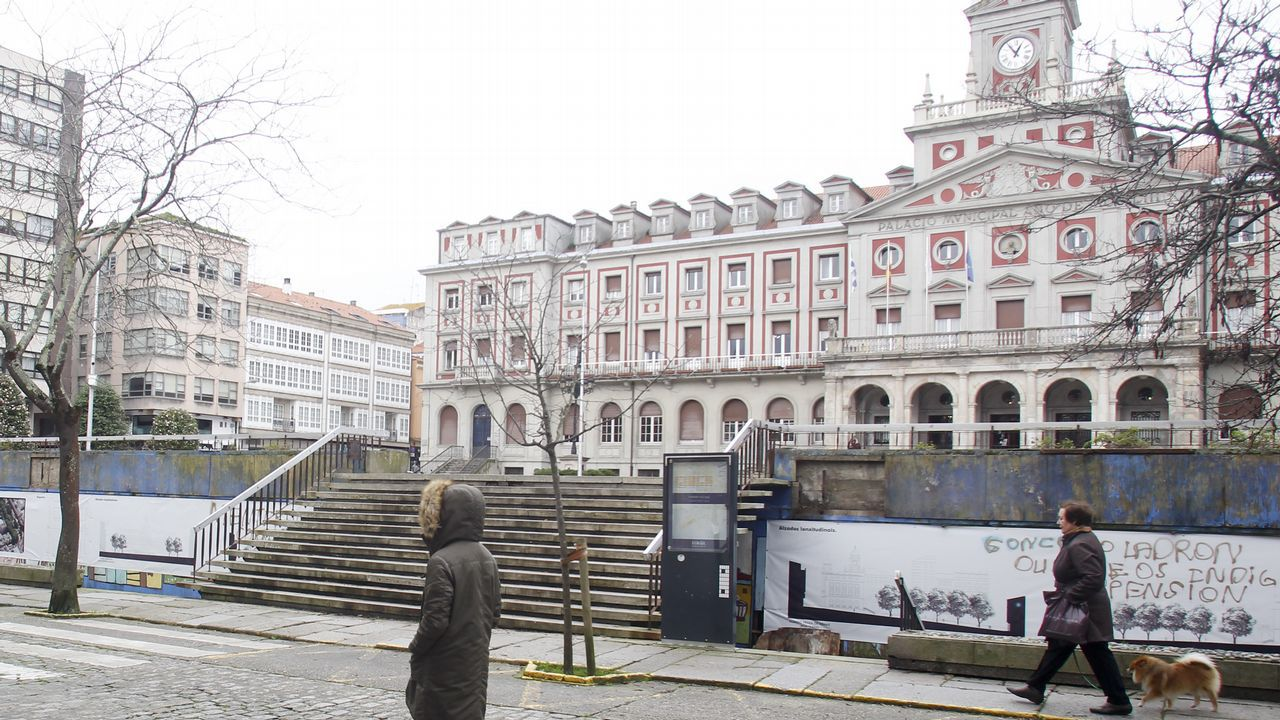 Vista de la plaza de Amboage