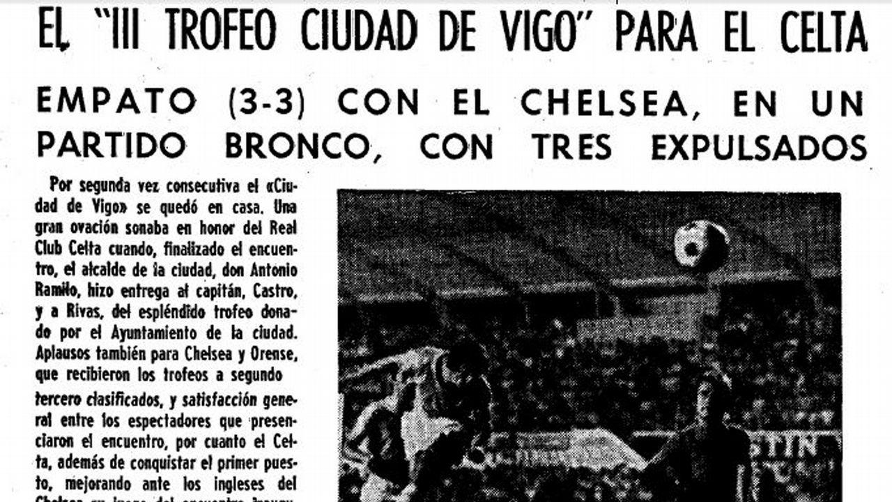Celta-Chelsea en el Ciudad de Vigo de 1973