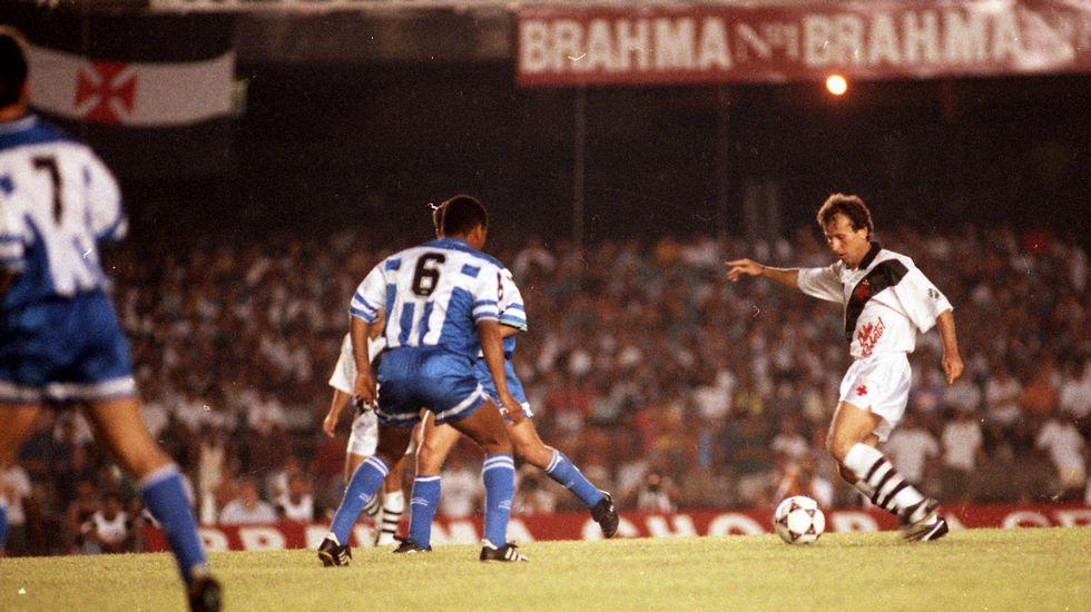 Zico y Mauro Silva.