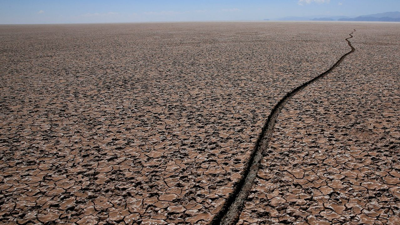 El lago Poopo, en Bolivia, afectado por el cambio climático
