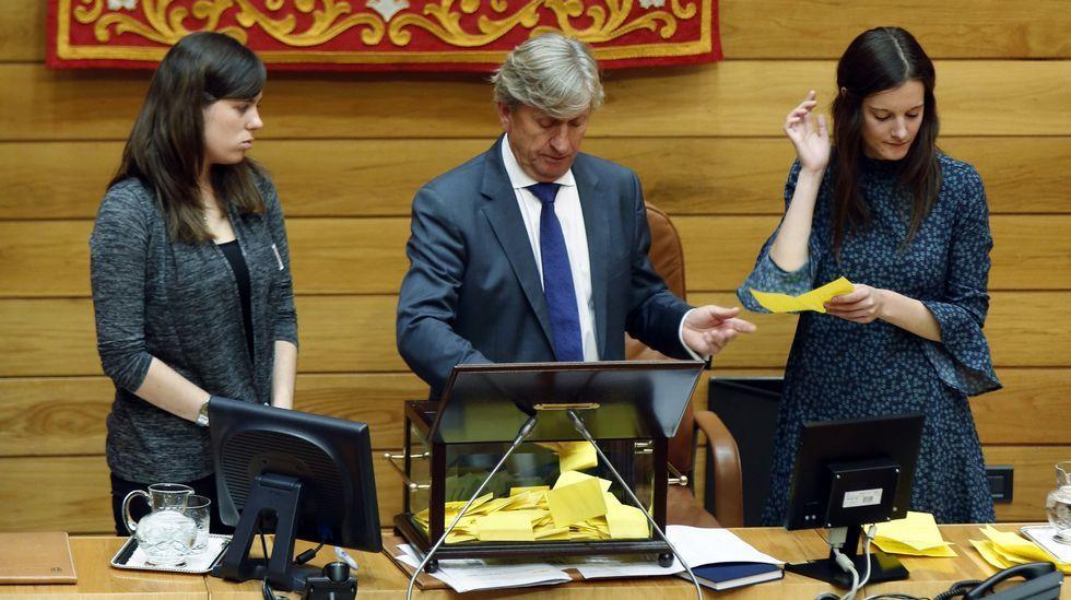 La votación para constituir la mesa del Parlamento