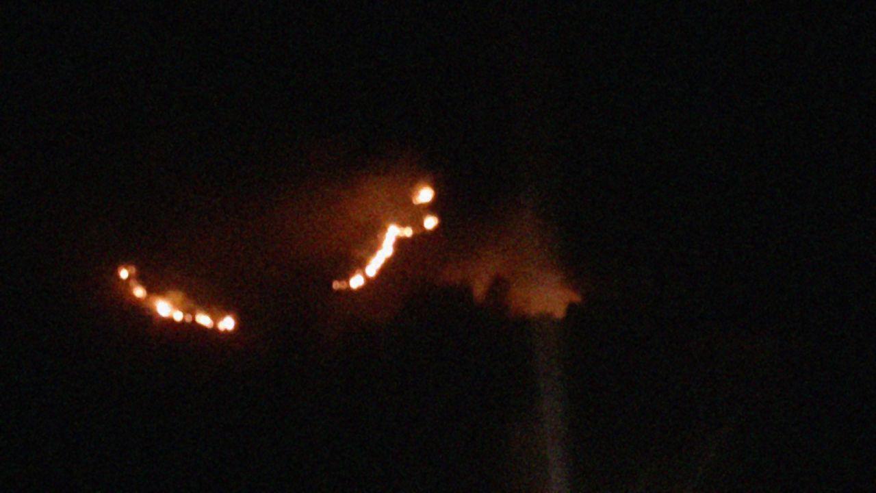 Incendio en la Sierra del Sueve