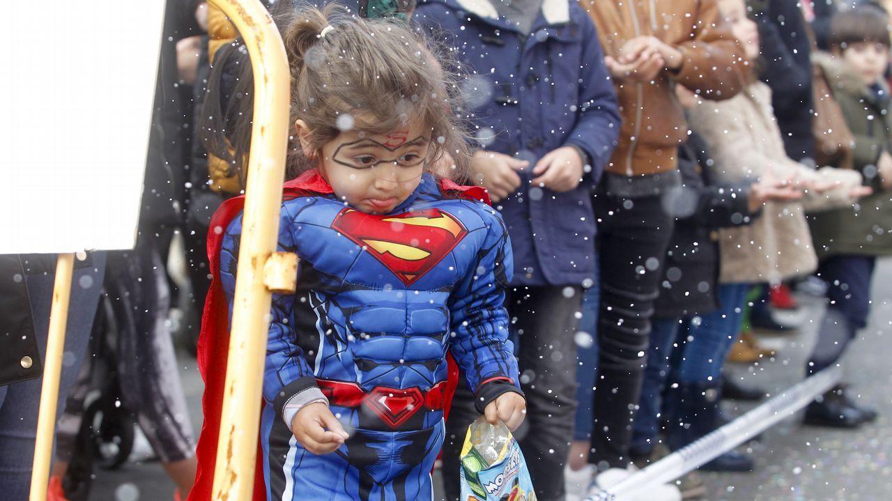 Desfile de carnaval por las calles vilagarcianas