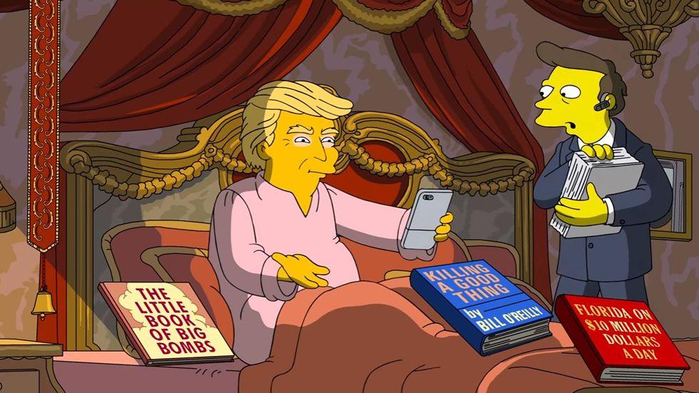 Los 100 días de Trump en el poder, según «Los Simpson»
