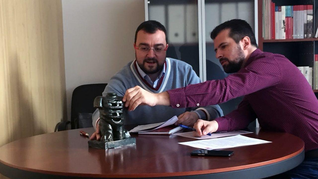 Adrián Barbón y Luis Tudanca