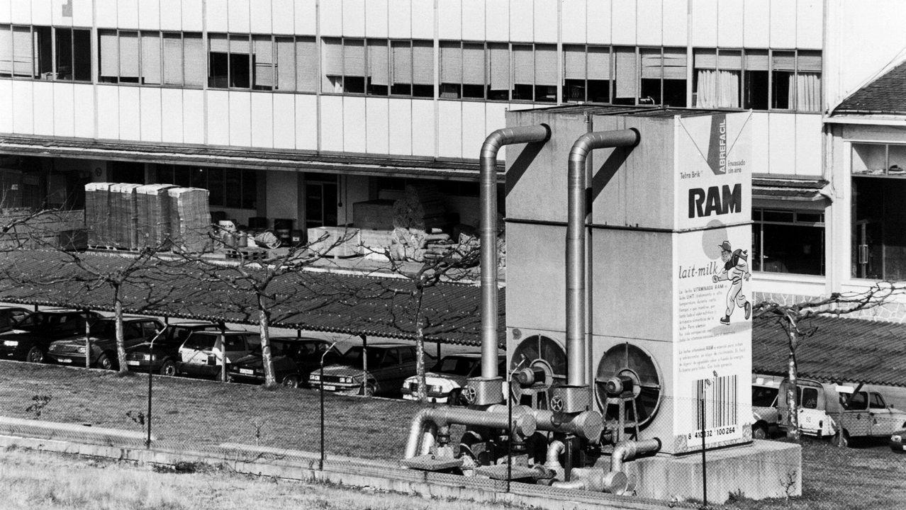 Vista de la fábrica de Complesa, en marzo de 1992
