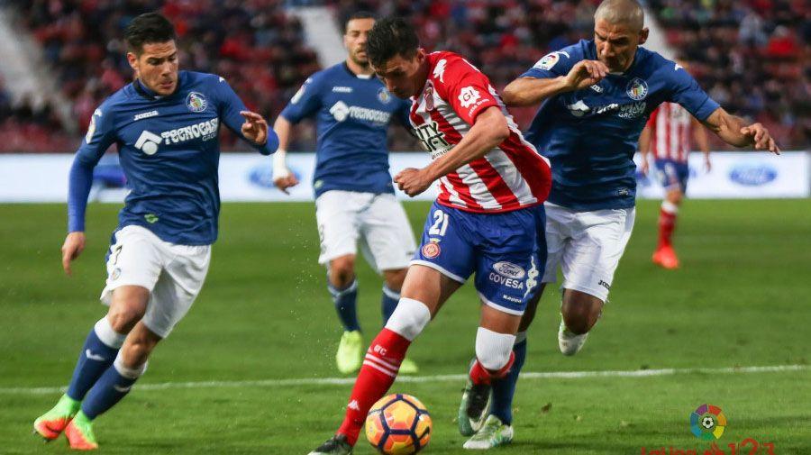 Partido que enfrentó al Girona con el Getafe
