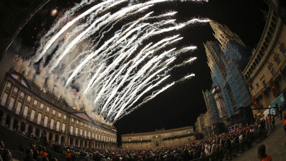 La Catedral tampoco servirá este año de soporte para los Fuegos del Apóstol