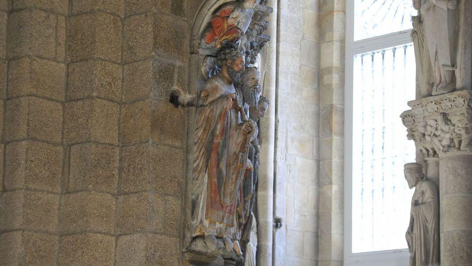Cuenta atrás para reabrir el pórtico de la Gloria tras culminar su restauración