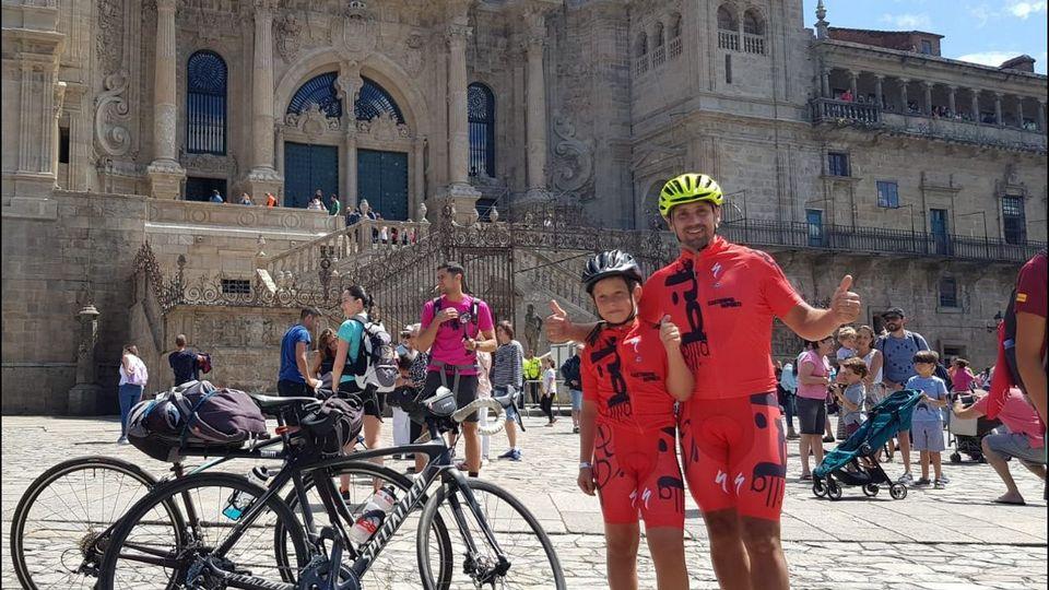 «O que máis me gustou de facer o Camiño en bicicleta foi ir con papá»