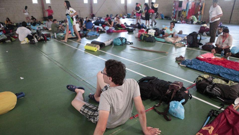 El pabellón de Lalín albergó en verano a más de mil peregrinos