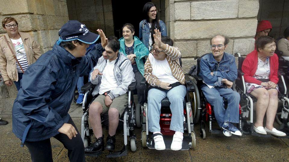 Cinco peregrinos con parálisis cerebral completan el Camino