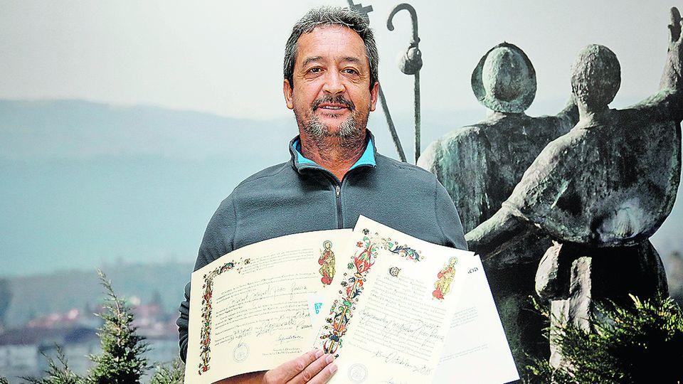 El peregrino 300.000: «El Camino de Santiago me dio la fuerza que necesitaba»