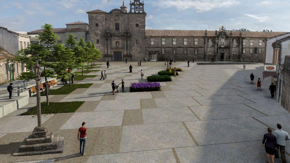 La construcción de unpequeño Obradoiro en Conxo sigue adelante, a pesar de las críticas