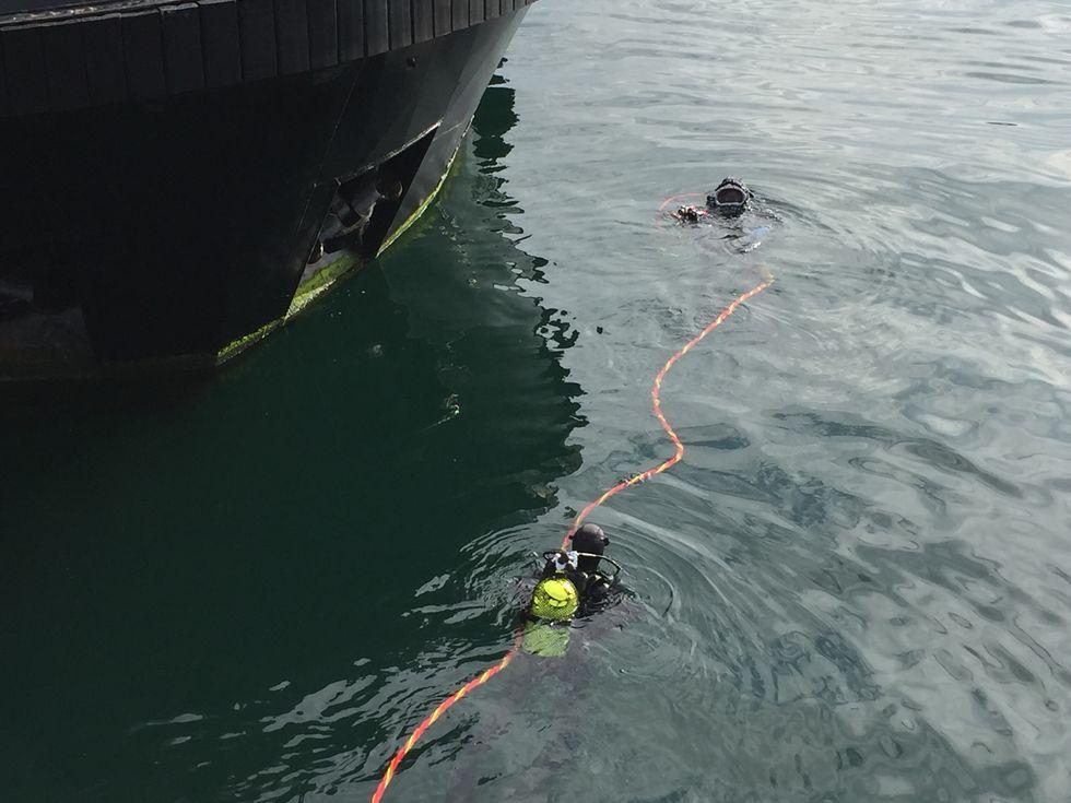 Inspección submarina a un remolcador.INUNDACIONES EN CORUÑA