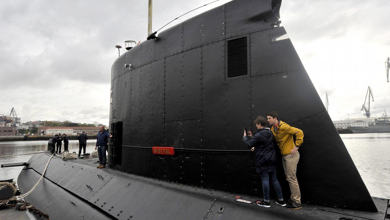 Despedida de la F-102 en el Asenal Militar de Ferrol.El buque, en su visita a Ferrol en el 2016