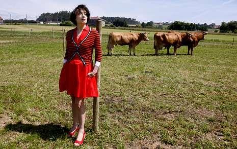 La cantante, en el mismo espacio en el que se celebrará el Festival de la Luz en el próximo mes de septiembre.