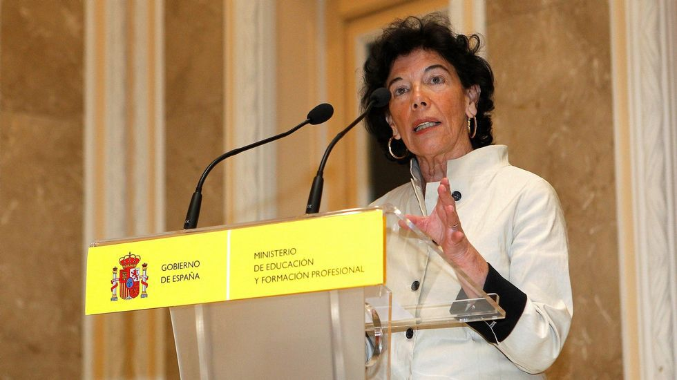 .Isabel Celaa, ministra de Educación y Formación Profesional
