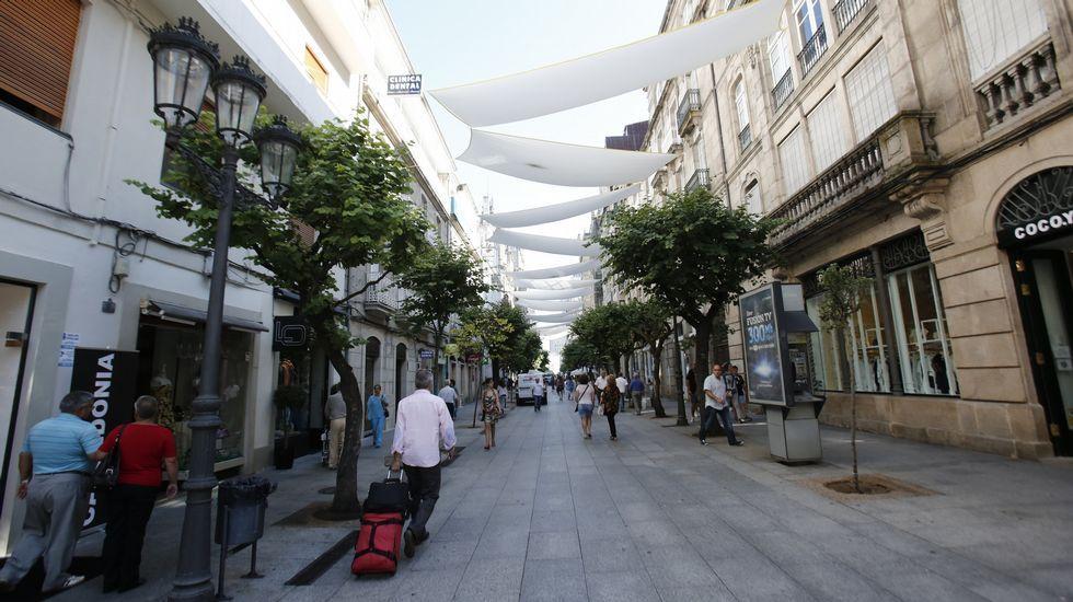 Rúa do Paseo, en Ourense. Junto con Príncipe, en Vigo, tiene el metro comercial más caro de Galicia, 720 euros el metro cuadrado.