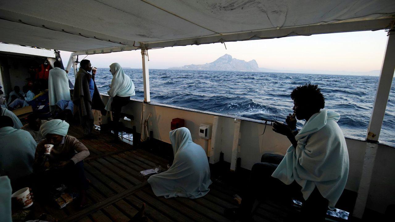 .El buque de la ONG Proactiva Open Arms navegó desde aguas internacionales frente a Libia