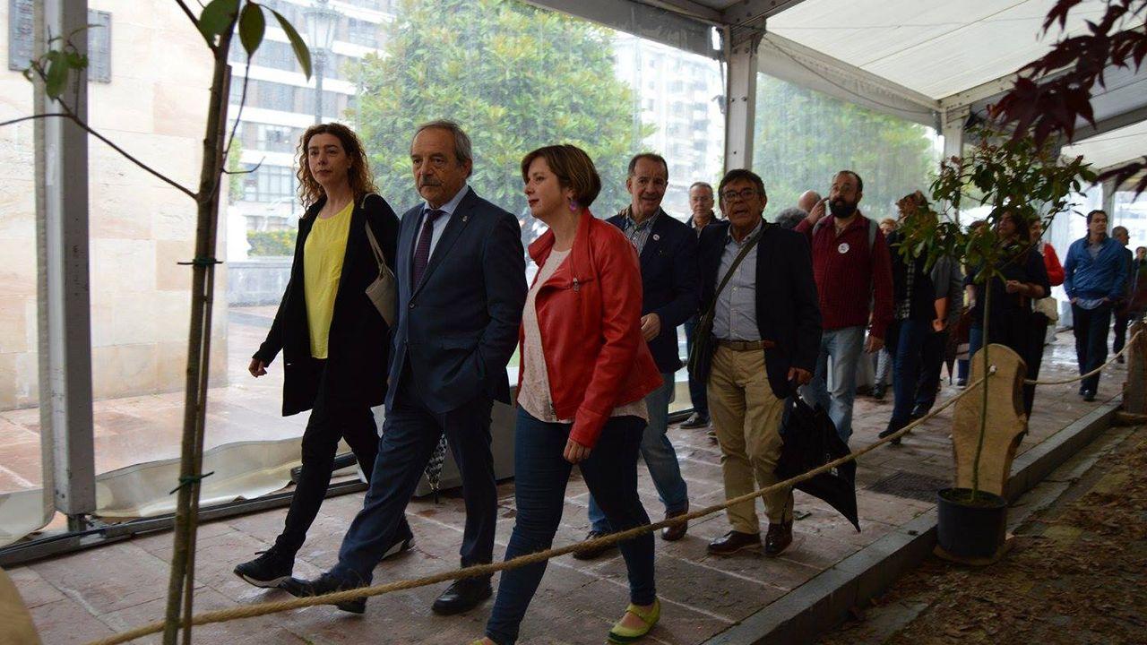 Cristina Pontón, Wenceslao López, Ana Taboada y Roberto Sánchez Ramos en la inauguración de la Feria de la Ascensión de 2017