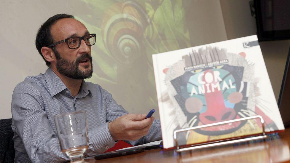 «Orejas de mariposa» es uno de los libros más demandadados de Kalandraka.Agustín Agra, durante a presentación do seu novo libro<span lang= es-es >. </span>