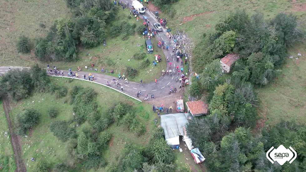Accidente en L'Angliru.
