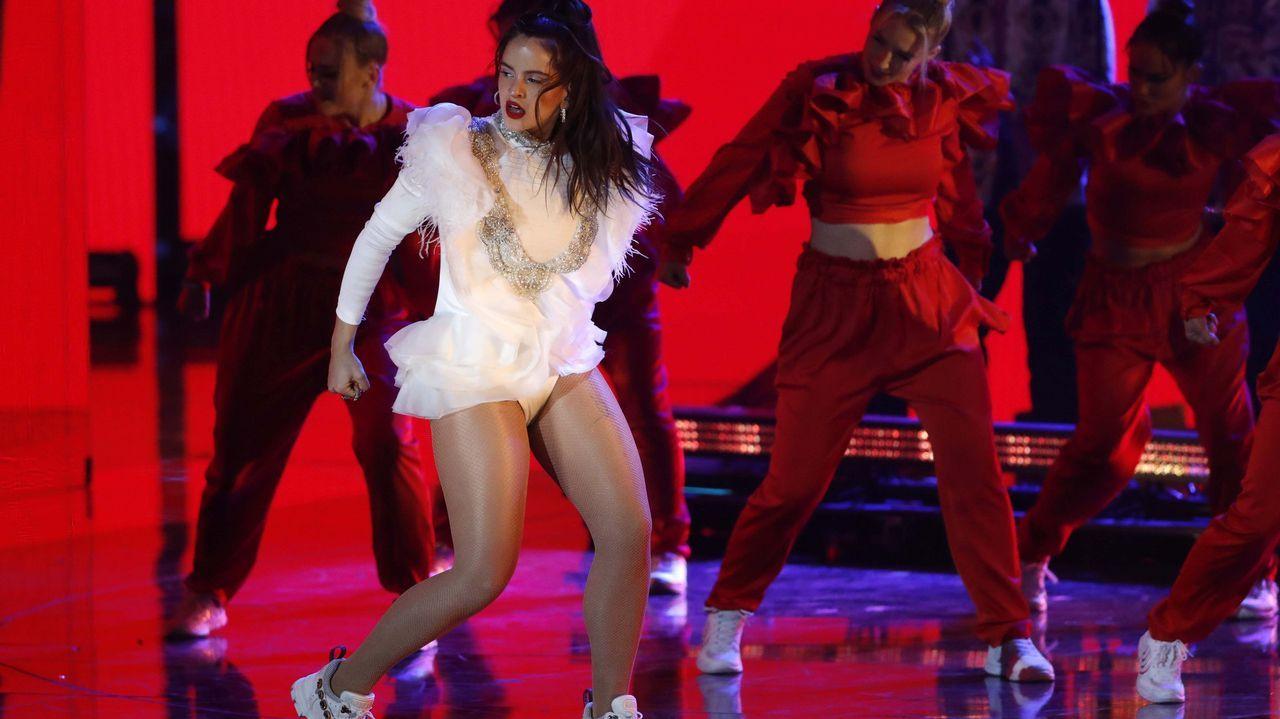 Rosalía, durante su actuación en la gala