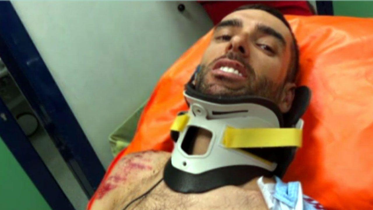 Dani Navarro, hospitalizado tras su grave caída en el Giro