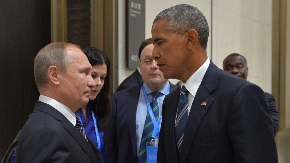 .Encuentro entre Vladimir Putin y Barak Obama