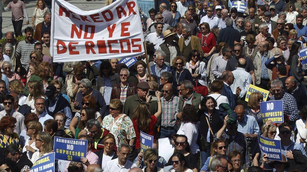.Manifestación en Oviedo contra el impuesto de sucesiones