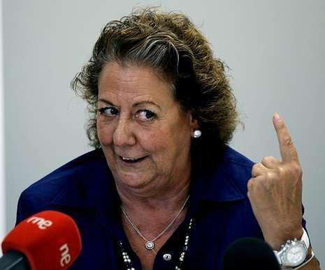 Rita Barberá, alcaldesa y diputada en las Cortes valencianas.