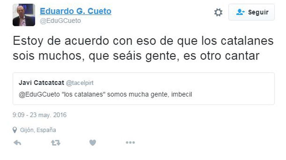 .Tweet de Eduardo García Cueto