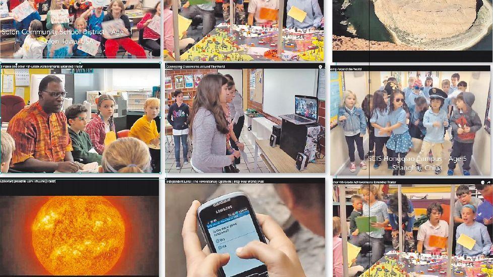 Imaxes dalgúns dos vídeos do Five-Minute Film Festival: Developing Global Citizens, relacionados no cadro 5, que fomentan a formación de estudantes-cidadáns globais, comunicados entre si e preocupados polo seu planeta
