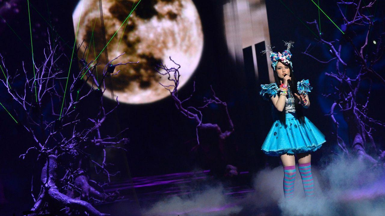 De esta guisa salió al escenario Jamie-Lee, la representante alemana que acudió a Eurovisión en el 2016.