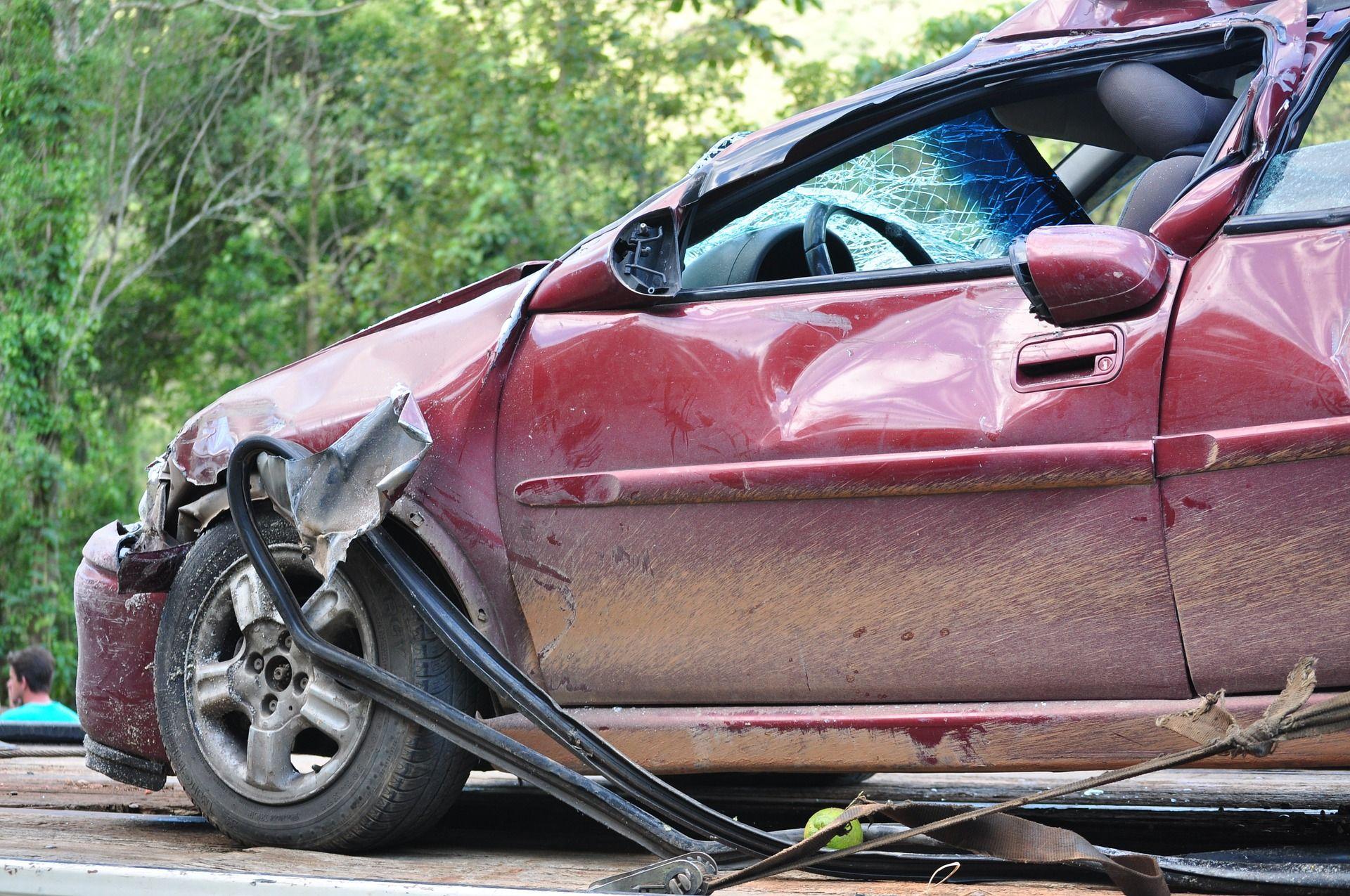 Accidente de coche.Accidente de coche