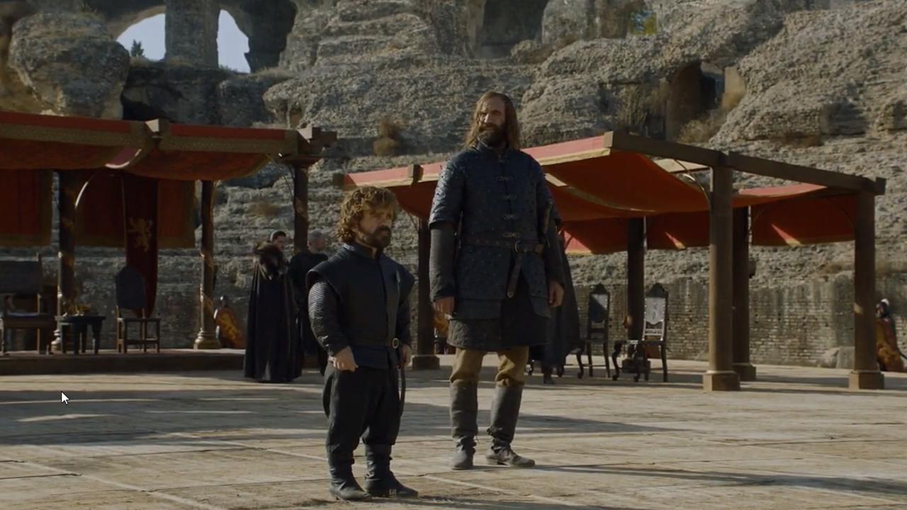 .Tyrion Lannister y Sandor «El Perro» Clegane