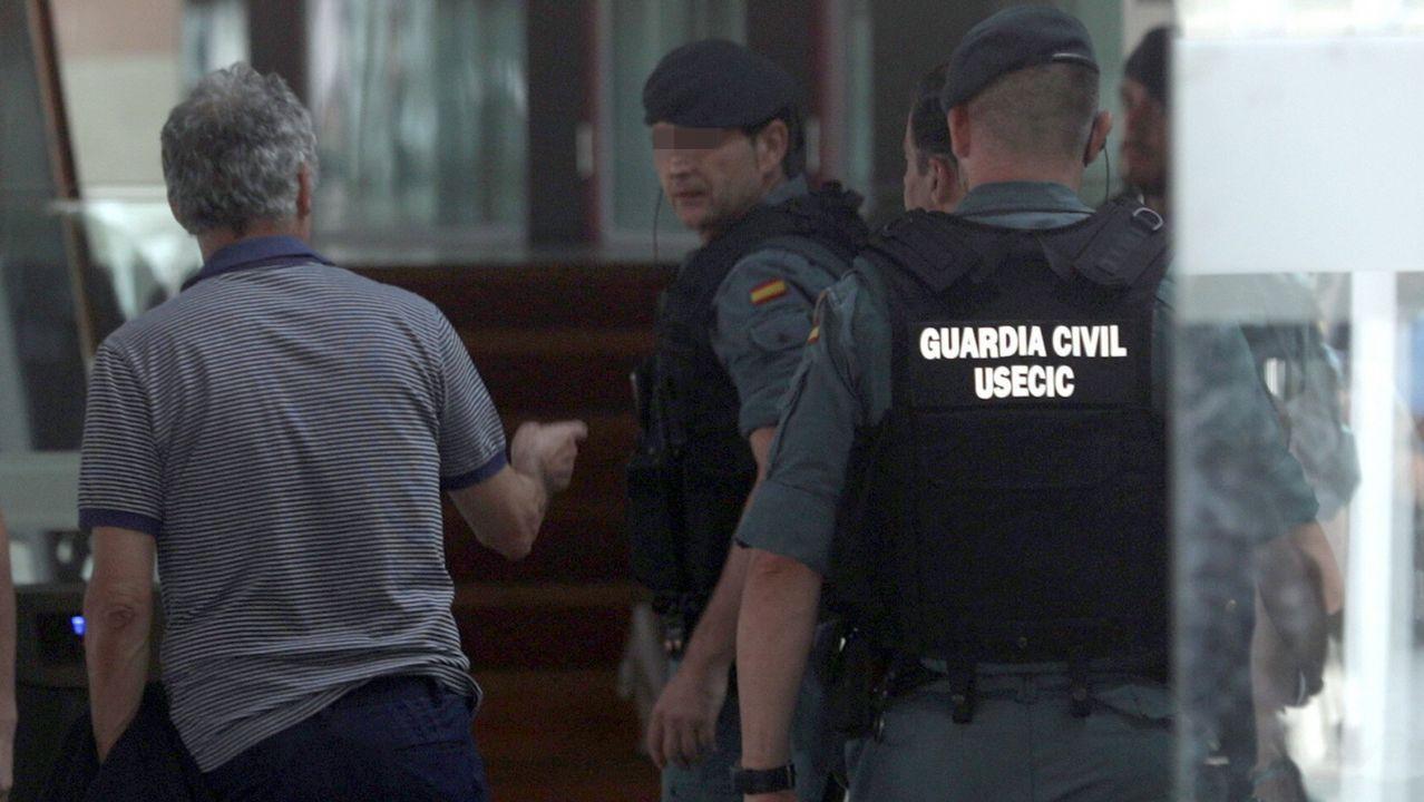 .Villar, a su llegada a la sede de la Federación en Las Rozas