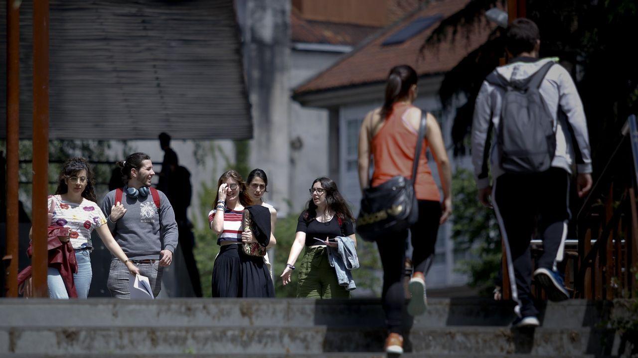 La zona del Ensanche, en Santiago, es una de las preferidas por los estudiantes