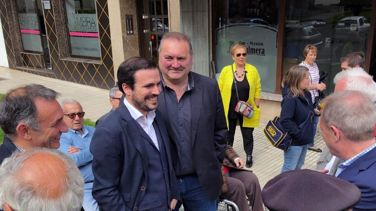 .Alberto Garzón y Ramón Argüelles