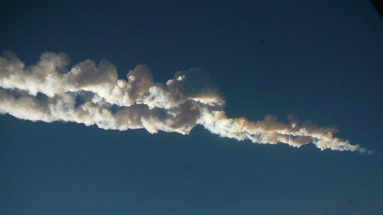 Imagen del meteorito de Chelyabinsk (Rusia) de febrero del 2013