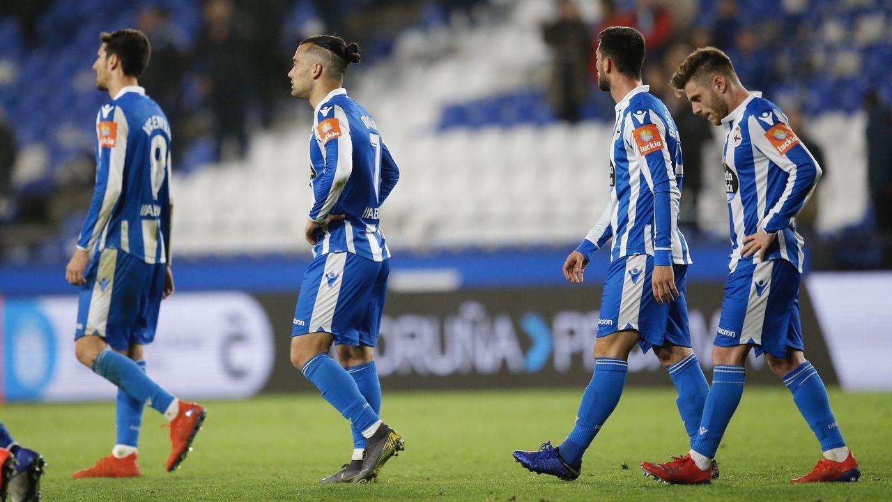 Las mejores imágenes del Deportivo - Almería.Quique lleva trece goles esta temporada