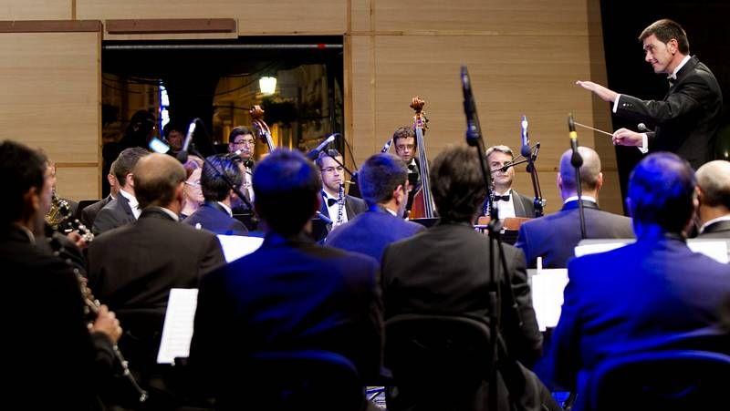 La Banda Municipal, durante su actuación.Los organizadores de los tres festivales