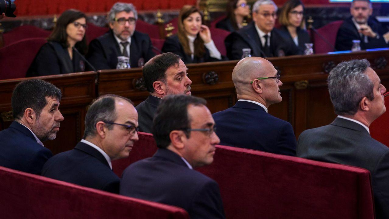 El abogado de Puigdemont, Gonzalo Boye, tuvo que presentar su documentación en el registro como le ordenó una funcionaria de la Junta Electoral.Uno de los momentos del juicio por el «próces» secesionista